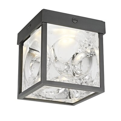 Marchan 1-Light LED Flush Mount Fixture Finish: Old Bronze