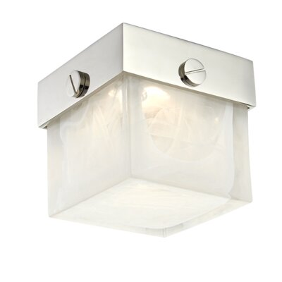 Marchese 1-Light LED Flush Mount Fixture Finish: Polished Nickel