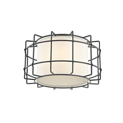 Tahlequah 2-Light LED Flush Mount Fixture Finish: Old Bronze