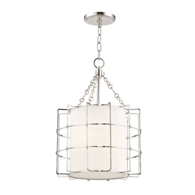 Tahlequah 2-Light Drum Pendant Finish: Polished Nickel