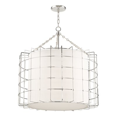 Tahlequah 4-Light Drum Pendant Finish: Polished Nickel