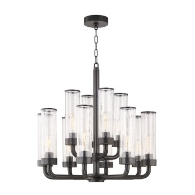 Legaspi 12-Light LED Candle-Style Chandelier Finish: Aged Old Bronze