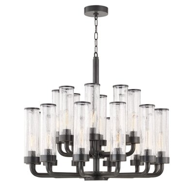 Legaspi 20-Light LED Candle-Style Chandelier Finish: Aged Old Bronze