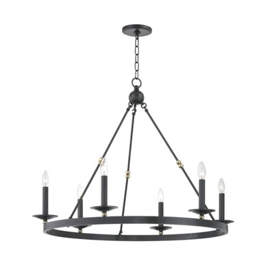 Castiglia 6-Light Candle-Style Chandelier Finish: Aged Old Bronze