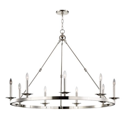 Castiglia 9-Light Candle-Style Chandelier Finish: Polished Nickel