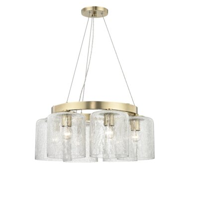 Ector 6-Light Candle-Style Chandelier Finish: Aged Brass