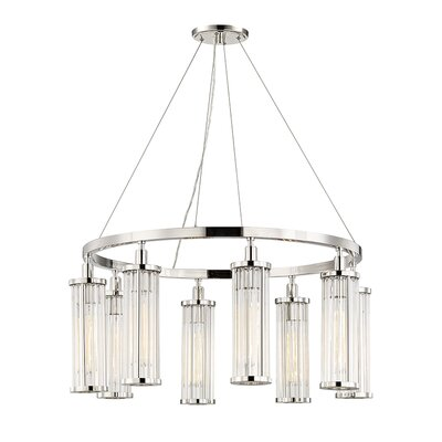 Talus 8-Light Candle-Style Chandelier Finish: Polished Nickel