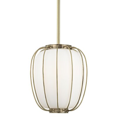 Talmo 1-Light Mini Pendant Finish: Aged Brass, Size: 14.25 H x 14 W x 14 D