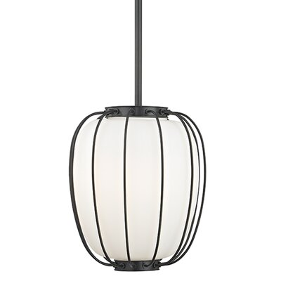 Talmo 1-Light Mini Pendant Finish: Old Bronze, Size: 14.25 H x 10 W x 10 D