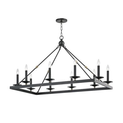 Castiglia 10-Light Candle-Style Chandelier Finish: Aged Old Bronze