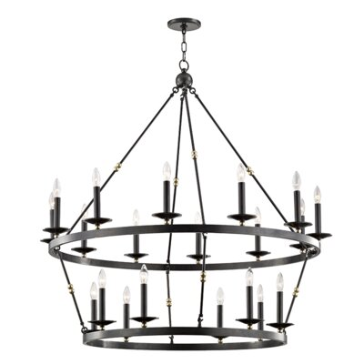Castiglia 20-Light Candle-Style Chandelier Finish: Aged Old Bronze