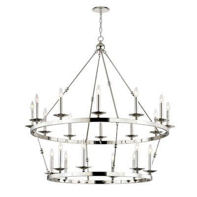 Castiglia 20-Light Candle-Style Chandelier Finish: Polished Nickel