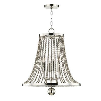 Wakeham 6-Light Candle-Style Chandelier Finish: Polished Nickel