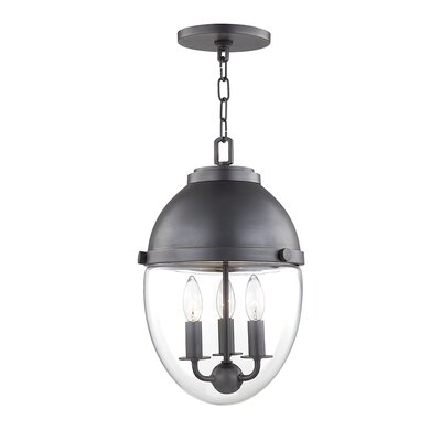 Caster 3-Light Foyer Pendant Finish: Old Bronze