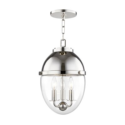 Caster 3-Light Foyer Pendant Finish: Polished Nickel