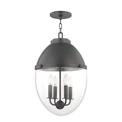 Caster 4-Light Foyer Pendant Finish: Old Bronze