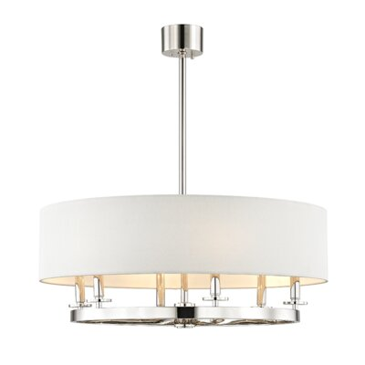 Lefler 6-Light Drum Pendant Finish: Polished Nickel