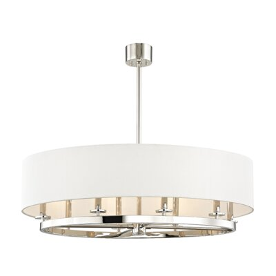 Lefler 8-Light Drum Pendant Finish: Polished Nickel