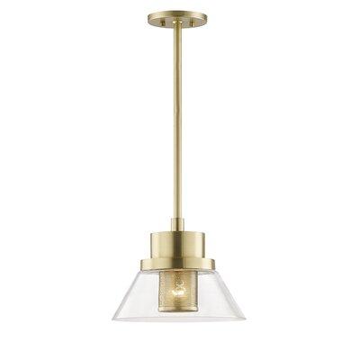 Talmadge 1-Light Mini Pendant Finish: Aged Brass, Size: 15.5 W x 15.5 D