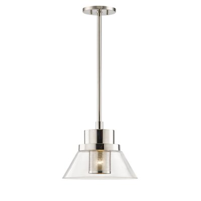 Talmadge 1-Light Mini Pendant Finish: Polished Nickel, Size: 12 W x 12 D