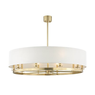 Lefler 10-Light Drum Pendant Finish: Aged Brass
