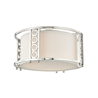 Legros 3-Light Flush Mount Fixture Finish: Polished Nickel