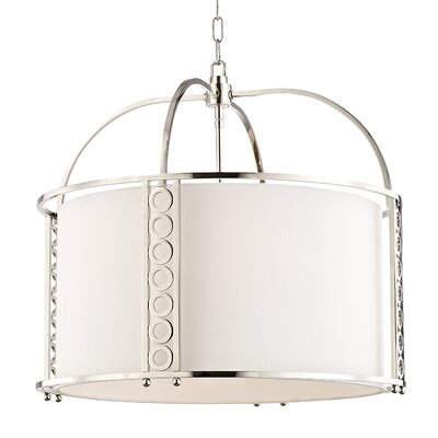 Legros 8-Light Drum Pendant Finish: Polished Nickel, Size: 22 H x 24 W x 24 D