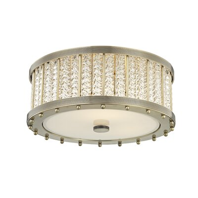Legler 3-Light Flush Mount Fixture Finish: Aged Brass