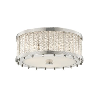 Legler 3-Light Flush Mount Fixture Finish: Polished Nickel
