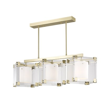 Tadley 3-Light Kitchen Island Pendant Finish: Aged Brass