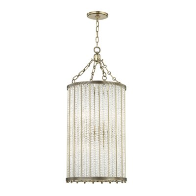 Legler 8-Light Crystal Pendant Finish: Aged Brass