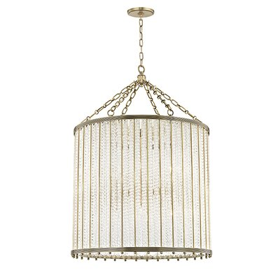 Legler 12-Light Crystal Pendant Finish: Aged Brass