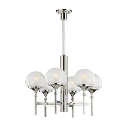 Leib 6-Light Candle-Style Chandelier Finish: Polished Nickel
