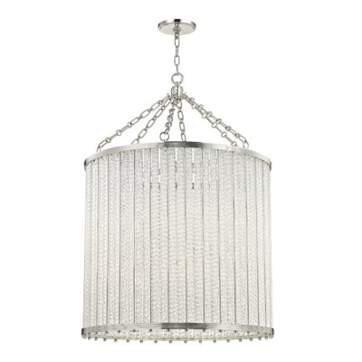 Legler 12-Light Crystal Pendant Finish: Polished Nickel