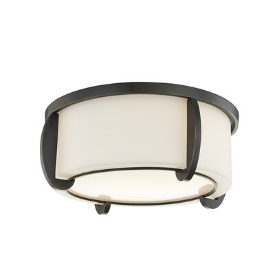 Tamesbury 2-Light Flush Mount Fixture Finish: Old Bronze