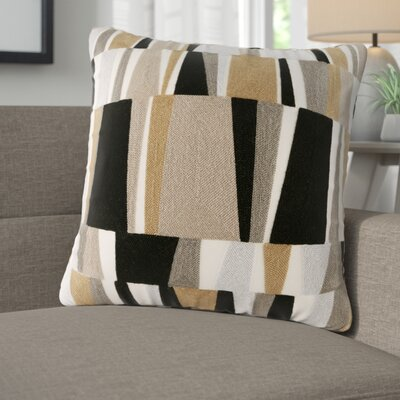 Bendel Embroidered Throw Pillow Color: Natural