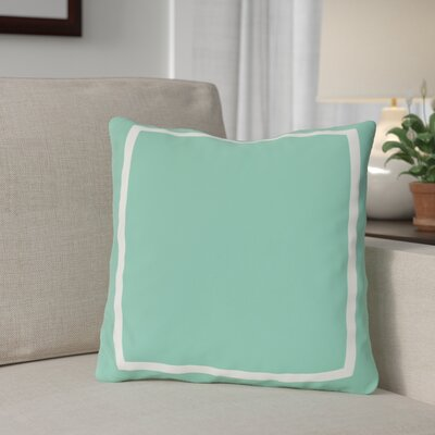 Biller Simple Square Outdoor Throw Pillow Color: Turquoise, Size: 18