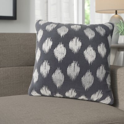 Behan Dot 100% Cotton Throw Pillow Color: Navy