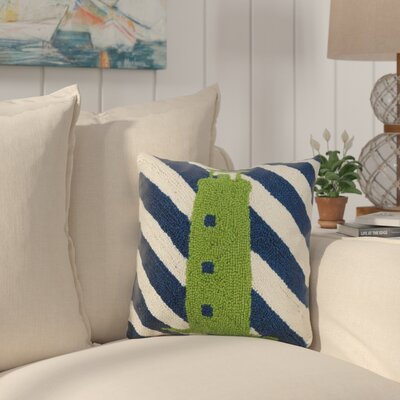 Earleton Lighthouse Stripes Wool Throw Pillow