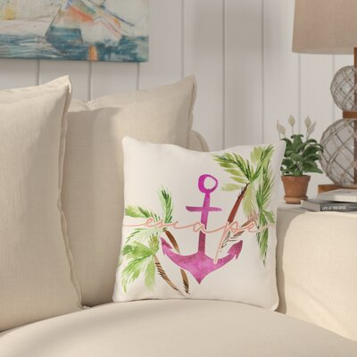 Vivian Escape Anchor Outdoor Throw Pillow Size: 18 x 18