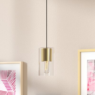 Cyrus 1-Light Mini Pendant Finish: Aged Brass