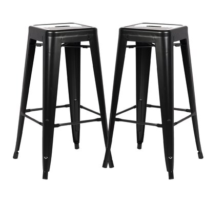 Alyssa 30 Bar Stool Color: Black