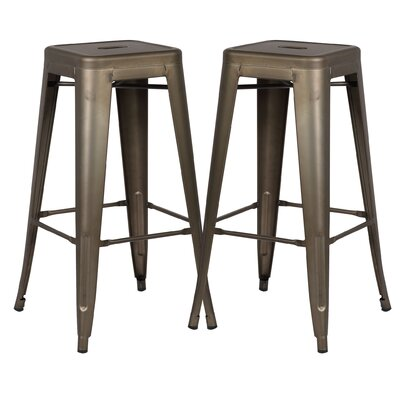 Alyssa 30 Bar Stool Color: Bronze