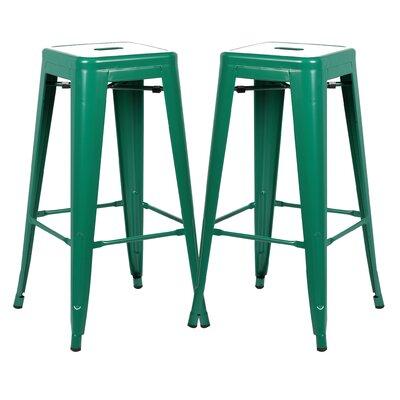 Alyssa 30 Bar Stool Color: Dark Green