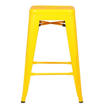 Alyssa 24 Bar Stool Color: Yellow