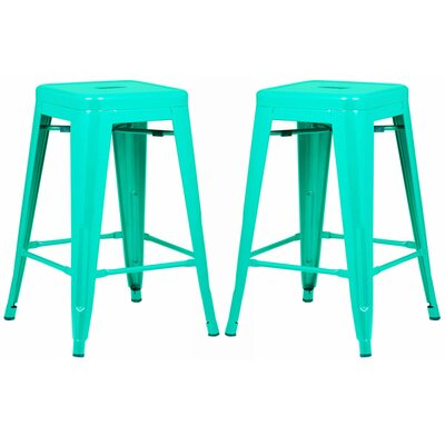 Alyssa 24 Bar Stool Color: Aqua