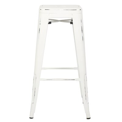 Alyssa 30 Bar Stool Color: Distressed White