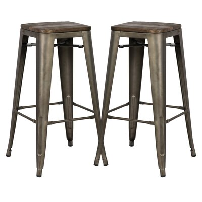 Alyssa 30 Bar Stool Color: Elmwood/Bronze