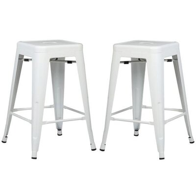 Alyssa 24 Bar Stool Color: White