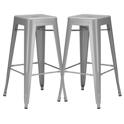 Alyssa 30 Bar Stool Color: Gray